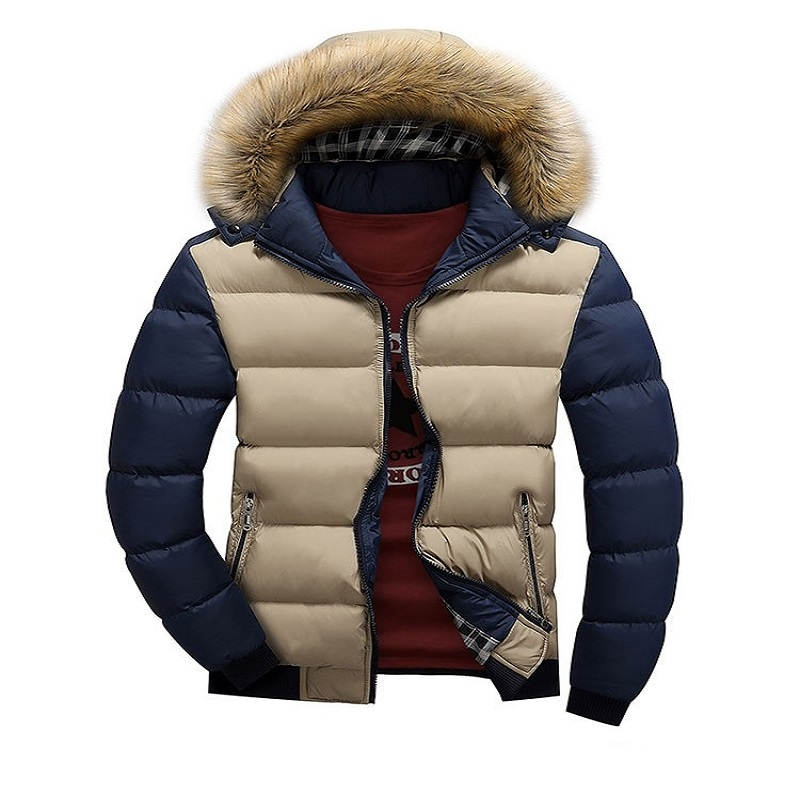 Winter Men Jackets 2016 Fashion Casual Fur Hooded Down Jackets White Duck Down Coats Man Long Sleeve Outdoors Clothing Wear z10