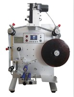 110 v/220 v 수직 접착 스티커 라벨 기계  날짜 인쇄 기계와 수동 라벨 기계