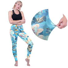 WPCZQVZA 2019 Classic Flower Woman Fashion Leggings High Quality Printing Blue Legging Women Elegant Elastic Leggins For Gifts