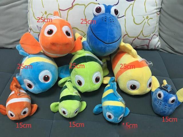 4 Style Finding Dory Plush Toys 15cm Finding Nemo Stuffed Animals