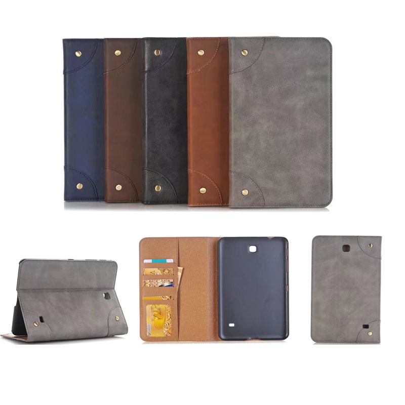 Retro Business Scrub Leather Cover Case for Samsung Tab 4 8.0 T330 T331 T335 Tablet PU Leather Case for Samsung T335 T331 T330