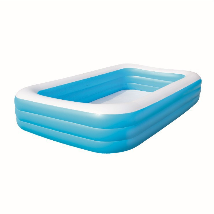 bestway genuine 54009 three ring rectangular inflatable pool adult baby bath pool ball pool b32 in pool accessories from sports entertainment on