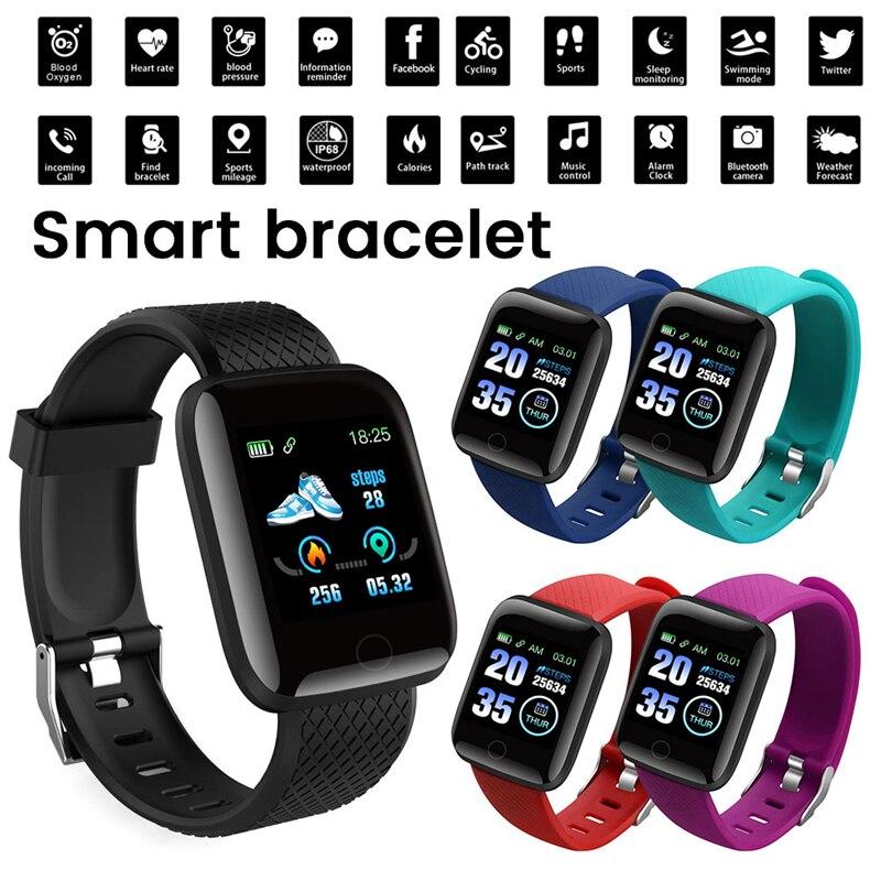 Relógio inteligente com pressão arterial freqüência cardíaca vida bit smartwatch pulseira de fitness para ios android reloj inteligente esportes relógios