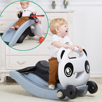 Infant Shining Puzzle Toy For Children Slide And Rocking Horse Double Use Gift For Baby Combo