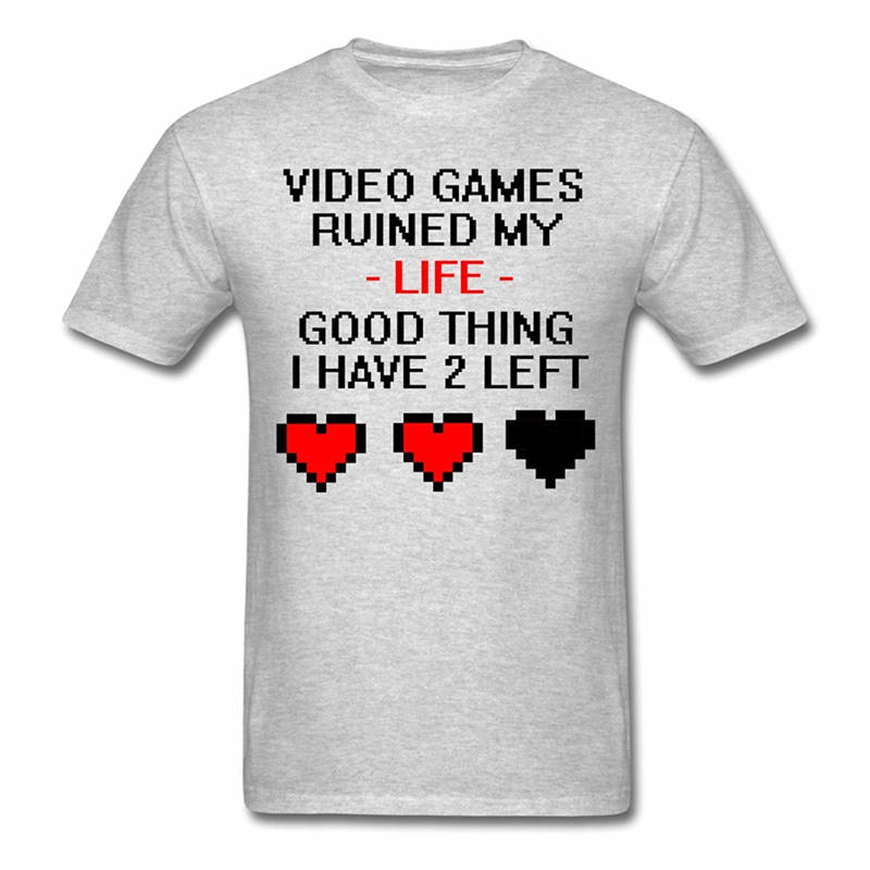 b4c609fa New Design Cotton Male Tee Shirt Designing Short Women Video Games Ruined  My Life Funny Quote O-Neck Fashion 2018 Tees