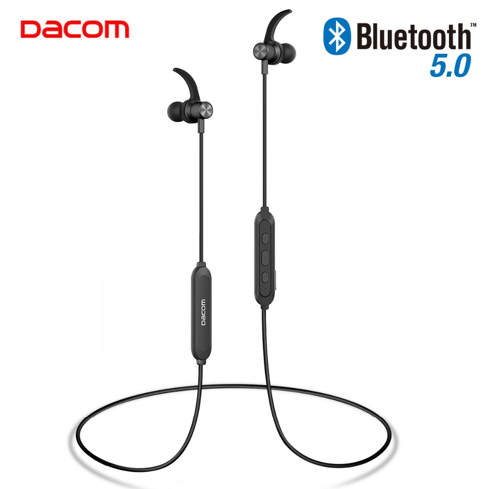 DACOM L15 Wireless Headphones Sports Bluetooth Earphone 5.0 Stereo IPX5 Waterproof Running Headset 10H Music for iPhone Samsung awei a920bls bluetooth earphone wireless headphone sport headset with magnet auriculares cordless headphones casque 10h music