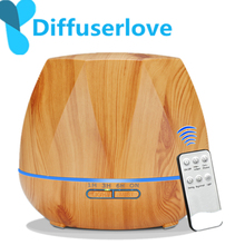 Difuserlove difusor de aroma elétrico, controle remoto 500ml, ultrassônico, umidificador de ar, aromaterapia de óleo essencial