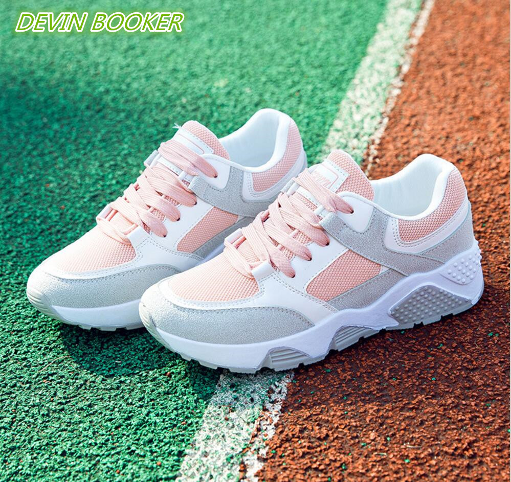 New listing hot sale Spring and autumn woman net Breathable sports shoe