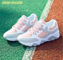 New listing hot sale Spring and autumn woman net Breathable sports shoes woman running shoes DY05-Y09