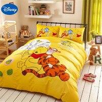 Disney Аутентичные Винни Пух мультфильм Постельное белье для детей Украшения в спальню хлопок покрывало на кровать наволочки.