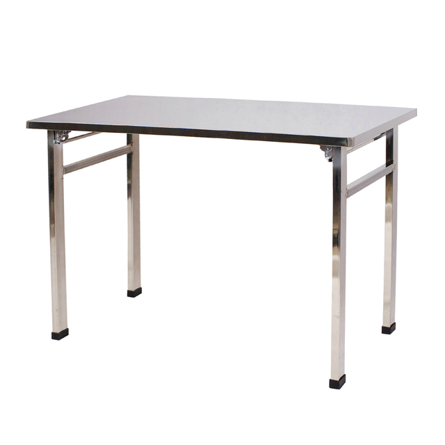 Folding Stainless Steel Table Workbench Training Table Conference - 6ft stainless steel table