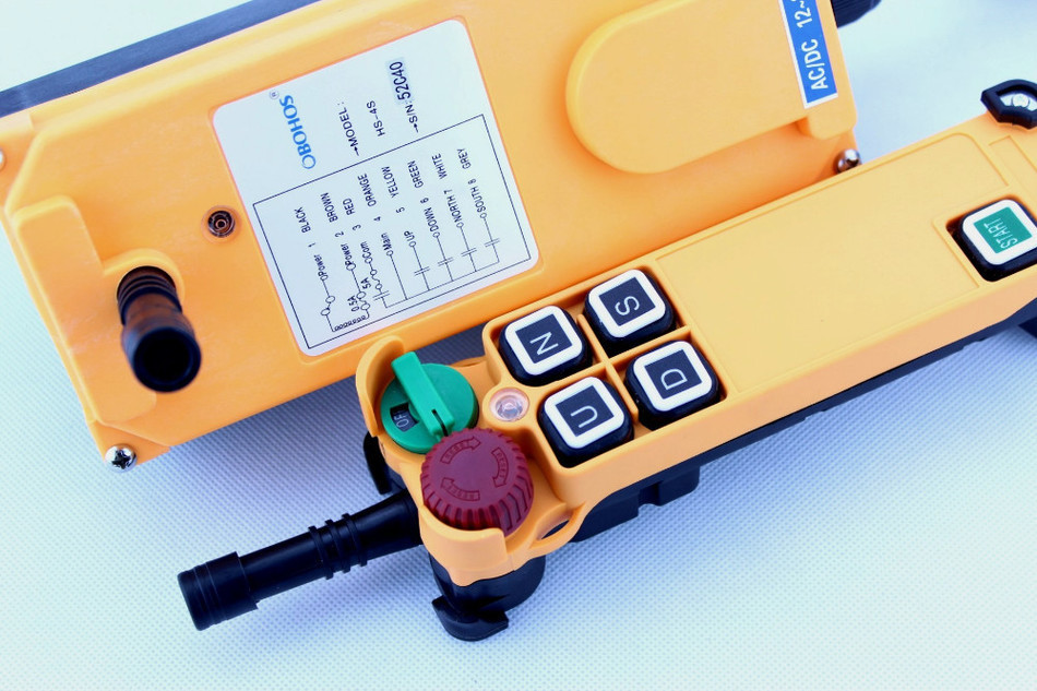 New Arrivals crane industrial remote control HS-4S wireless transmitter push button switch China crane hs 1934