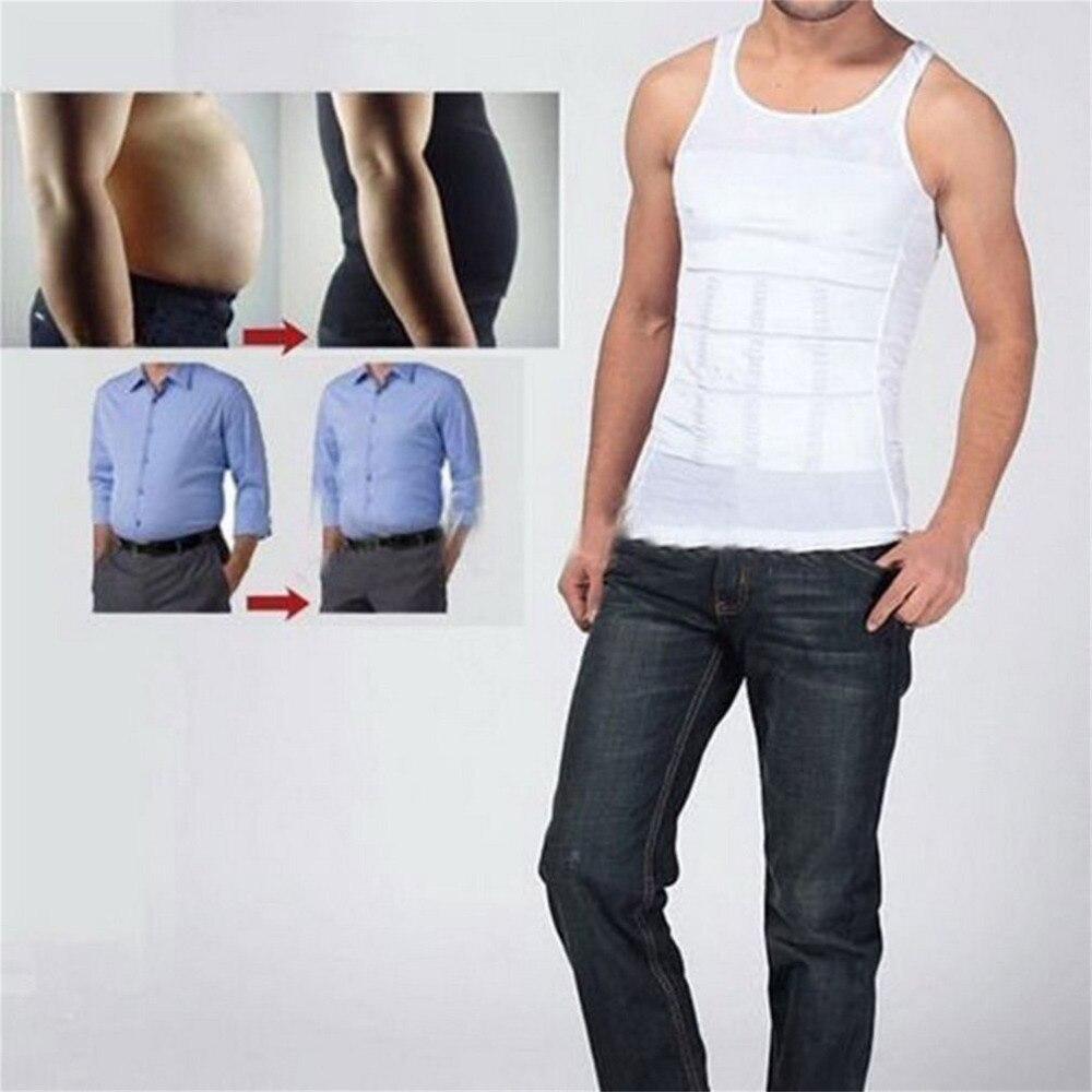 Men Body Shaper Slimming Tummy Bodysuit Men Running Vest Waist Girdle Shirt Black Shapewear Underwear Fajas Modeladoras