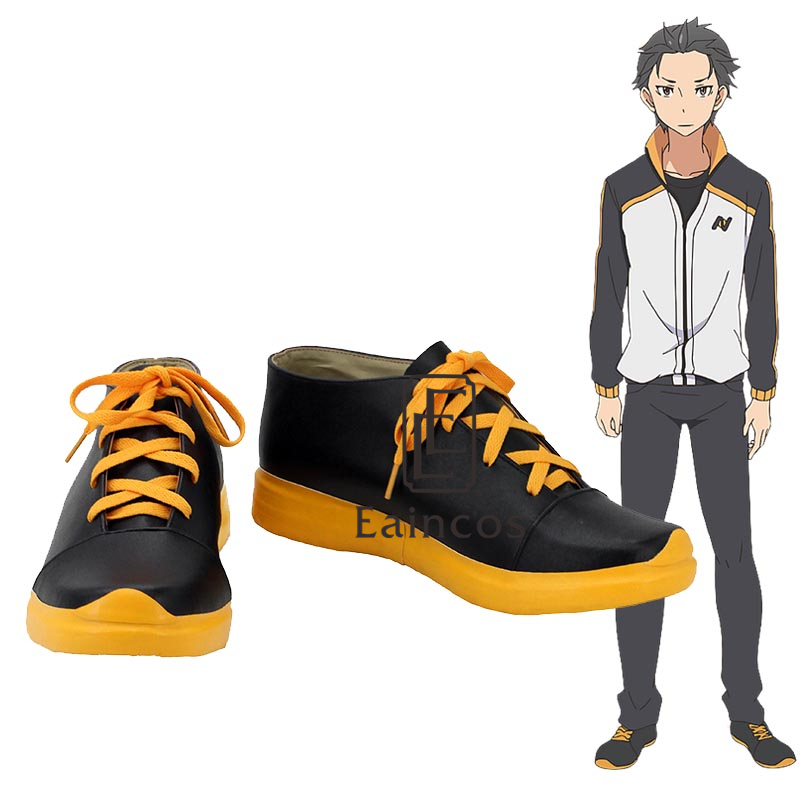 Anime Re: Life in a Different World from Zero Natsuki Subaru Cosplay Party Shoes Custom Made
