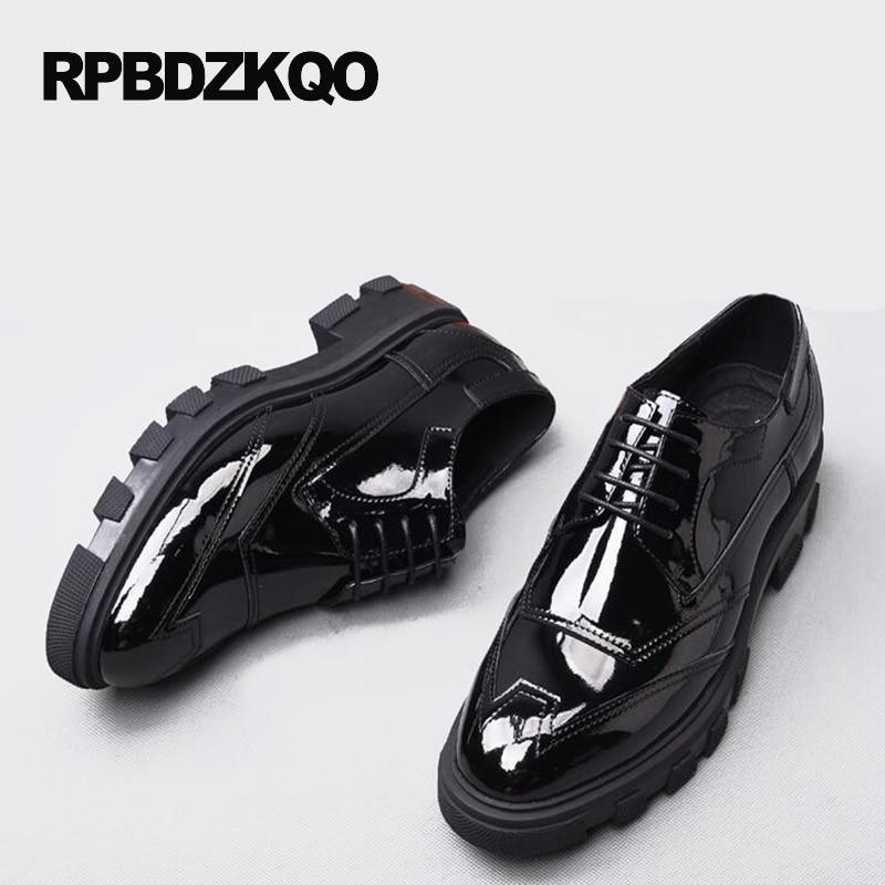 Trabajo Plataforma Vestir Negro Formal Pisos Clásico Hombres Goma Ala Boda Punta Fiesta Del Negocio De Zapatos qC4ndw