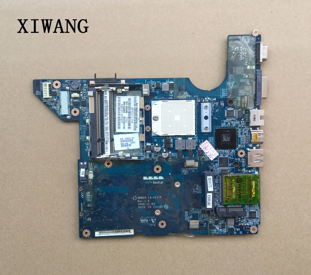 575575-001 For HP DV4 DV4-2000 Laptop Motherboard LA-4117P Sokcet s1 DDR2 100% Tested free shipping laptop motherboard 590349 001 for hp pavilion dv4 dv4 2000 laptop nal70 la 4107p system board
