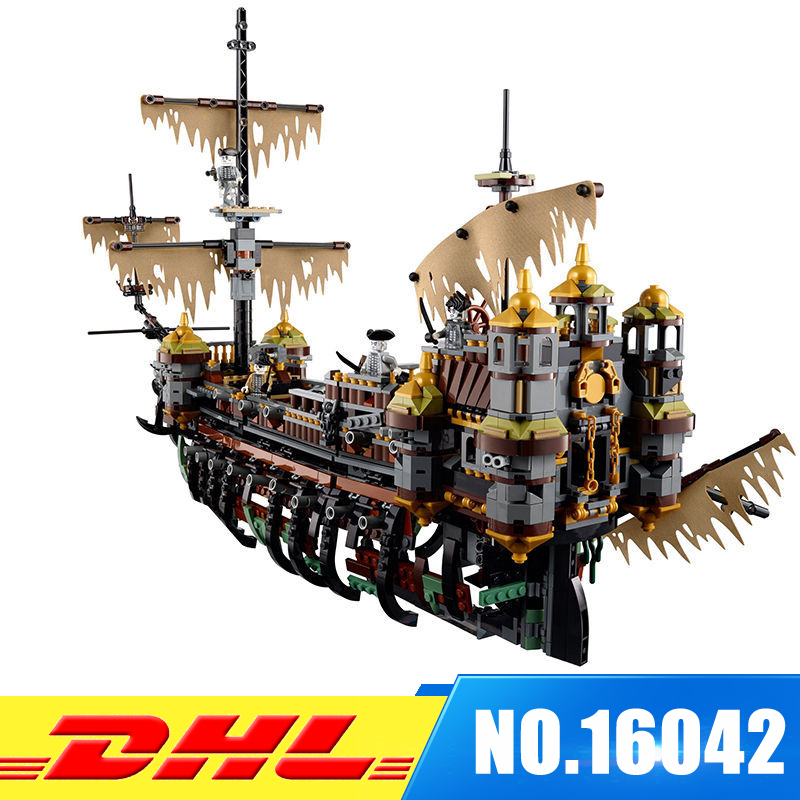 For 71042 IN Stock LEPIN 16042 2344Pcs Pirate Ship Series The Slient Mary Set Model Building Kits Set Blocks Bricks Toys Gift new lepin 22001 pirate ship imperial warships model building kits block briks toys gift 1717pcs compatible