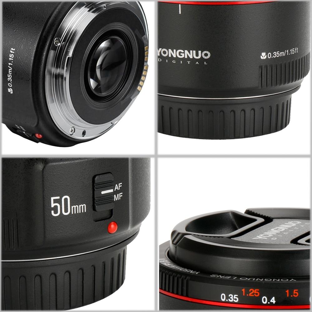 YONGNUO YN50mm F1.8 II Grande Ouverture Auto Lentille de Focalisation pour Canon Effet Bokeh Objectif pour Appareil Photo Canon EOS 70D 5D2 5D3 600D DSLR - 3