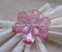 pink beaded wedding napkin ring, napkin holder