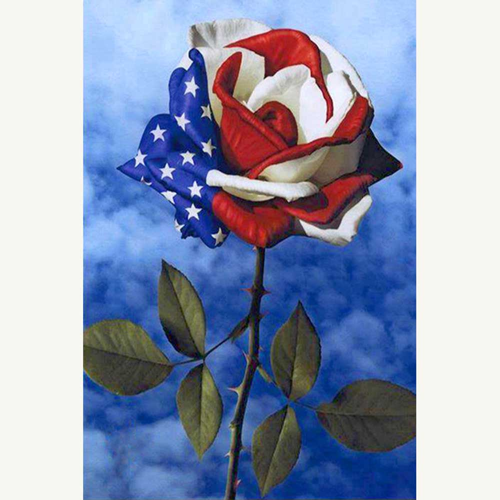 ROSE Drill DIY 5D Diamond Painting Embroidery Cross Crafts Stitch Kit Wall Decor