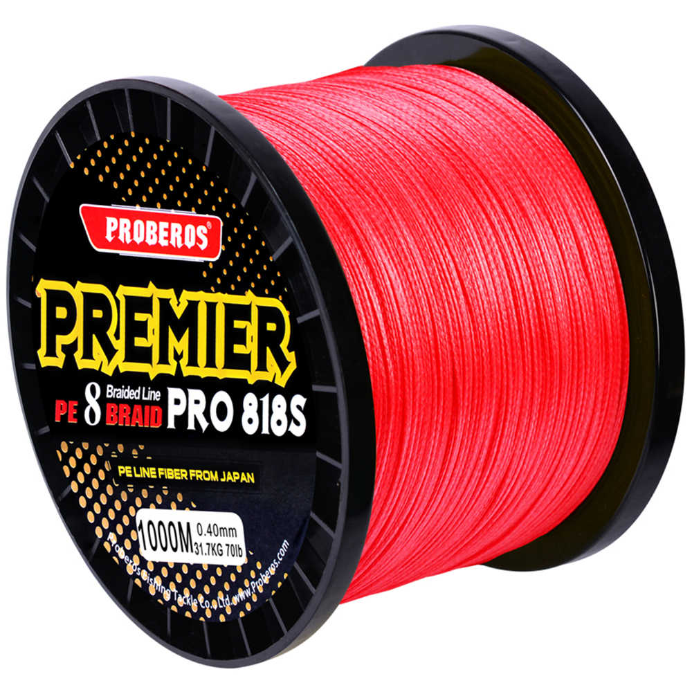 300M&500M&1000M&2000M 8 stands PE Fishing Line Red/Green/Grey/Yellow/Blue 8 Weaves Braided Line 40LB-300LB PE Line Package