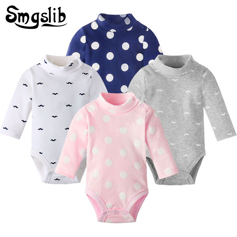 New born baby clothes unisex knitted Polka dot Print Toddler girl boy   romper   baby onesie Overall Outfit Pajamas baby jumpsuit