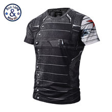 Hot Sale The Avengers Winter Soldier Captain America 3 Civil War T-Shirt Breathes Wear Summer Costume Tees 3D Printing
