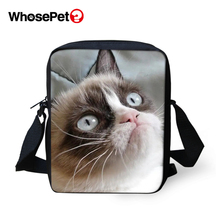 WHOSEPET Women Messenger Bags Funny Baby Cats Cross Body Shoulder Animal Cool Girls School Lady Mini Flap Postbags