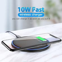 10W Wireless Charger For iPhone X/XS Max XR 8 Plus Samsung S9 S10+ Note 9 8