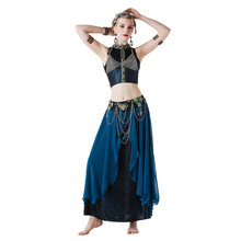 2019 New tribal style sexy belly dance set Performance Women Dancewear Vintage Bellydance Clothing Bollywood Carnival