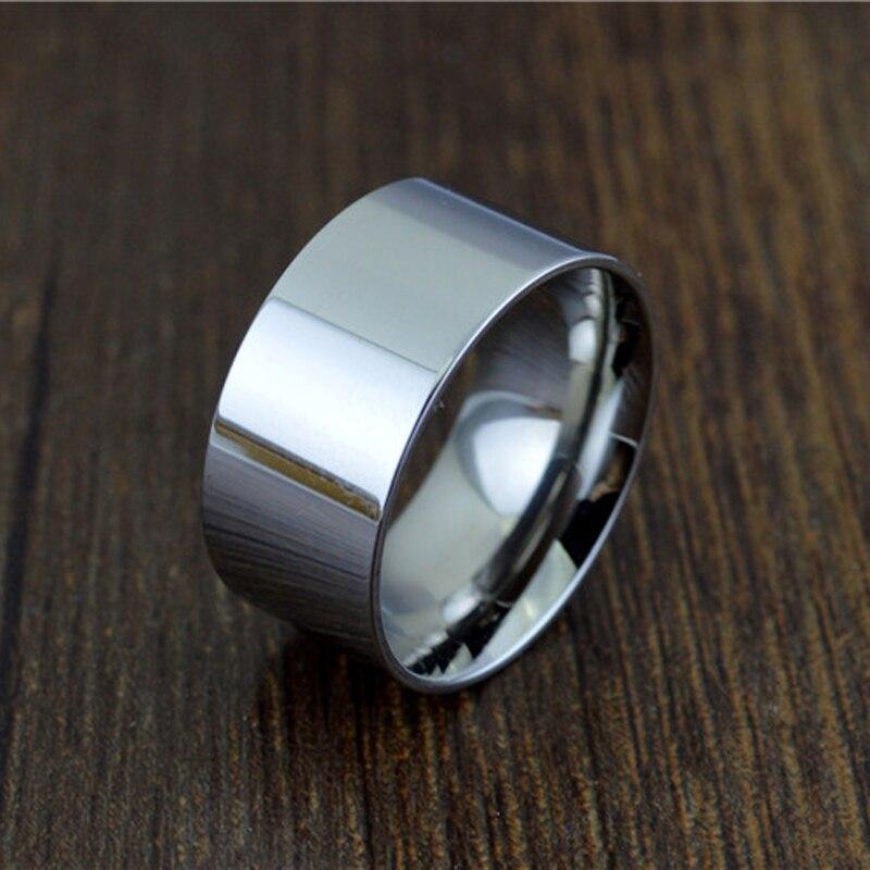 Us 3 29 Str165 Titanium Staal 10mm Breed Grote Ring Mannen Vrouwen Trouwring Voor Liefhebbers Zilver Rose Goud Kleur Grote Ringen Us Size 5 16 In