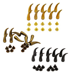 fityle 10 Sets 25mm Curved Cone Metal Studs Rivet for DIY Bag Clothes Shoes Leathercrafts Decoration
