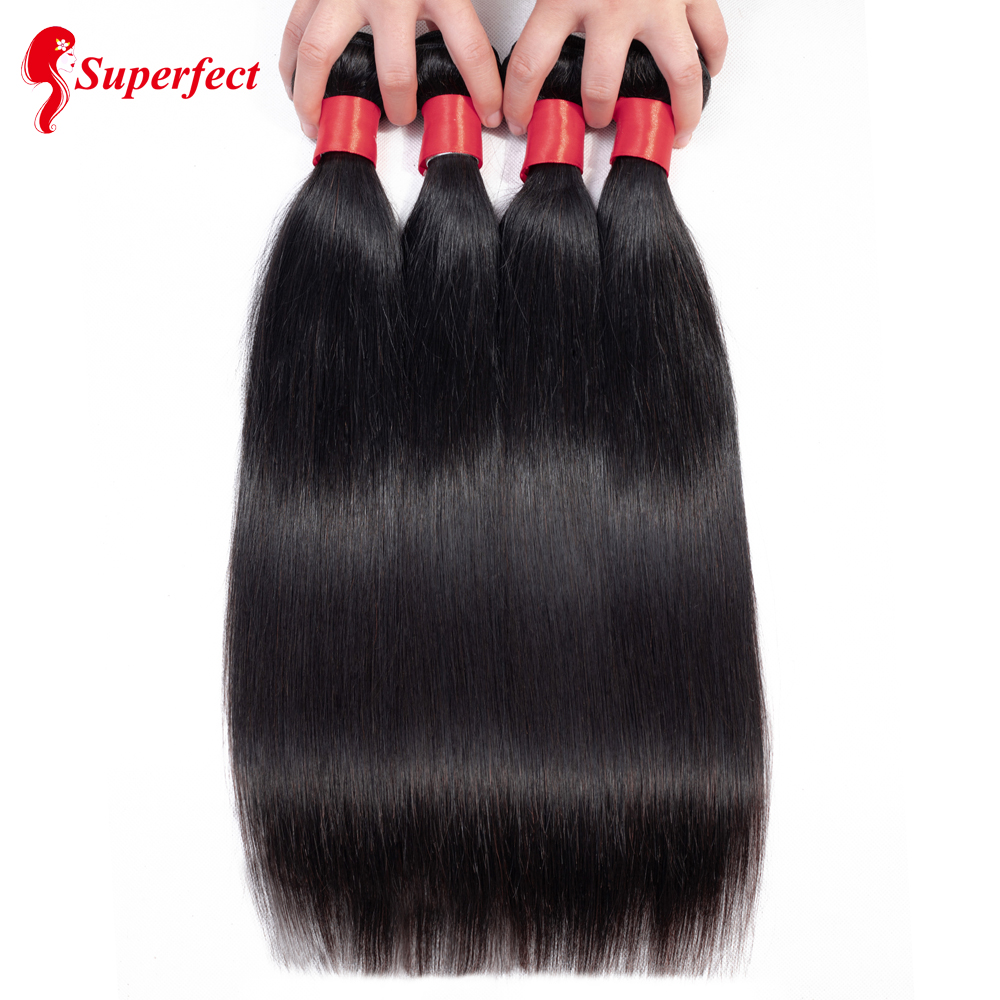 Superfect Straight Brazilian Hair Weave Bundles 100 Human Hair Bundles 4 Bundles Deals 8 26 Inch