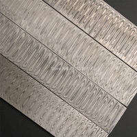 1pc Water ripple DIY knife Materia Damascus steel Rose Sandwich Pattern steel Knife blade blank Heat Treatment