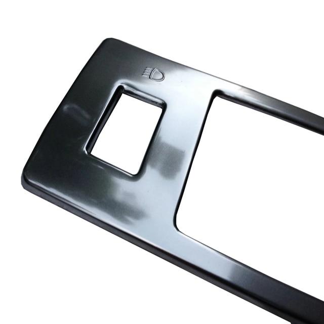 Car styling Switch di Console i-Pulsante di arresto di Copertura Per Mazda 3 Axela 2014 2015 2016 2017 Frontale Head Light lampada Trim Contorno Lunetta