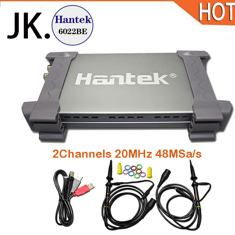2018 jo0oHantek 6022BE PC-Based USB Digital Storag Oscilloscope 2Channels 20MHz 48MSa/s with original box free shipping original 3 in 1 washable rechargeable electric shaver triple blade