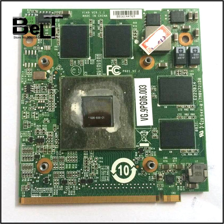 GeForce 9600MGS 9600M GS DDR2 512MB MXM II G96 600 C1 Video Card for Acer Aspire