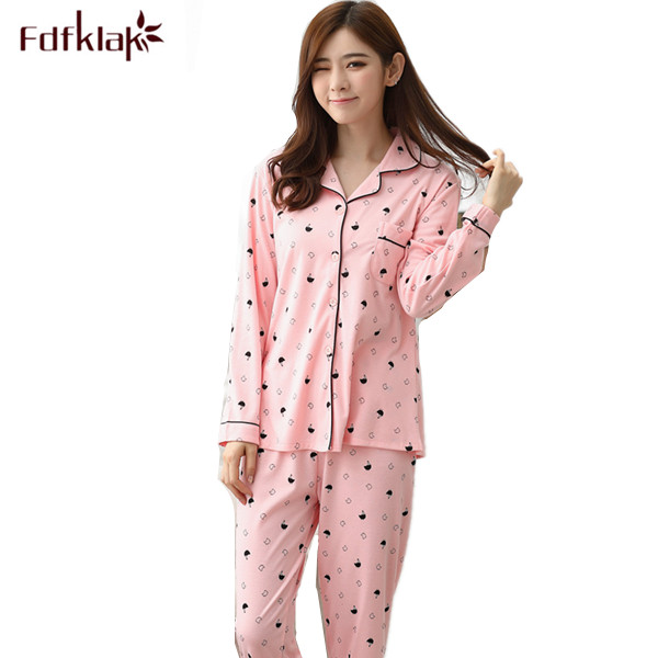 ac3c526c3b Women s Pajamas Warm Ladies Sleepwear Nightwear Set Pijama Plus Size  Pyjamas Women Spring Autumn Long Sleeve Home Clothes Q220-in Pajama Sets  from Underwear ...