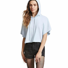 2019 new summer girls t-shirt short-sleeved sexy hooded sweater BONJEAN