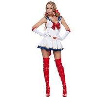 שמלה לבנה פנסי Cosplay תלבושות אישה לוחם סקסי למבוגרים משחקי תפקידים Disguisement נשי חמוד ילדה סט בגדי CA123