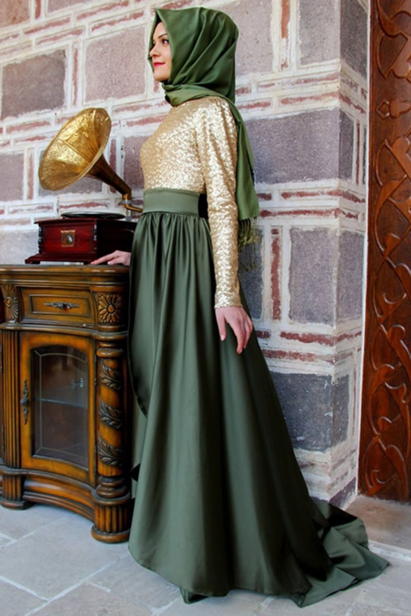 Champagn Gold Sequin Long Evening Dress 2015 New Arrival Teal ...