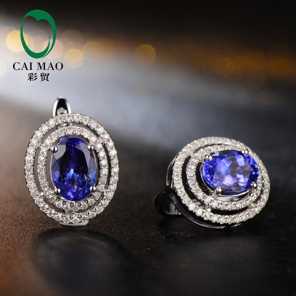 Caimao Calssic Anniversary Blue 1.92CT Tanzanite & 0.48ct Diamant - Bijoux - Photo 2