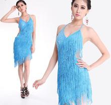 Female Tassels Latin dance dress Women modern dance Dress Lady's Professional Latin Skirt Samba Dance Latin Salsa Dresses 16