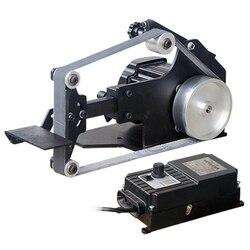 220V DIY pulpit szlifierka taśmowa polerowanie szlifierka 762 bezszczotkowy 762x25MM lub 762x35MM maszyna taśmowa 800W 0 5000RPM Y w Części do narzędzi od Narzędzia na