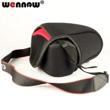 Wennew torba na aparat fotograficzny Case miękkie pakiet dla Canon EOS M50 M6 M5 M3 M2 M 200D 1200D 1300D 15  45 18 55mm obiektyw