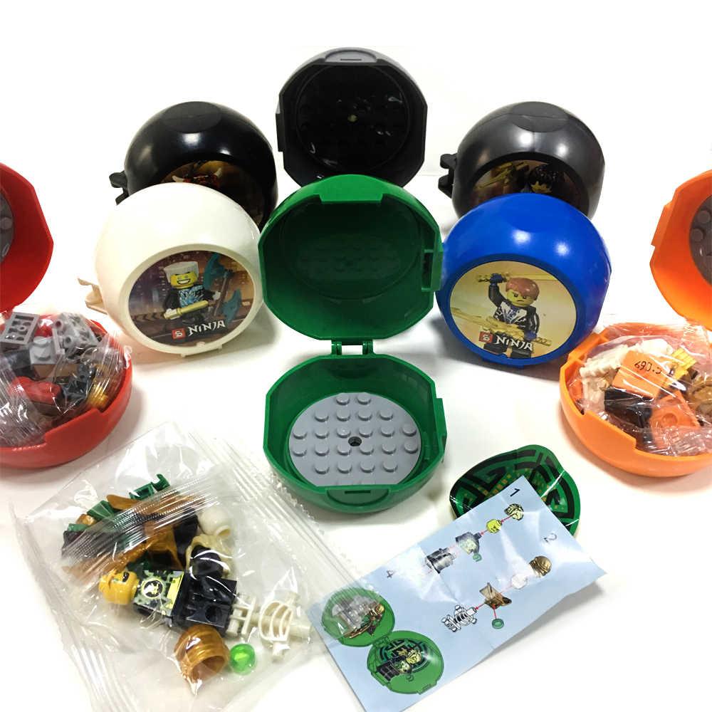 Fit Ninjagoes Formação Kendo Pod 8 em Conjunto de Mini Figuras 1 Pack Display Stand Espadachim Building Blocks Brinquedos Para Crianças