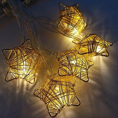 10 Mixed Star Rattan String Christmas Party Patio Fairy ROOM Decor Kid  Lights(China (