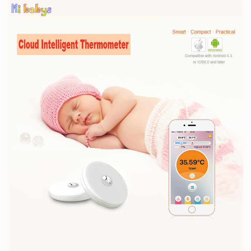 Baby Thermometer Monitor Smart Bluetooth Mobile phone binding equipment Baby Health Care Monitor with APP Children Safety Care baby thermometer monitor intelligent wearable safe thermometer bluetooth smart dropshipping mar 15