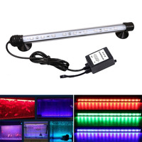 IP68 5050 RGB LED Fish Tank Submersible Light Lamp With Remote Control Waterproof MF-28 SMD LED Aquarium Light 28cm Quality