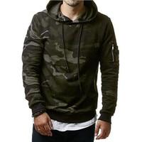 2017 New Mens Hoodies And Sweatshirts Zipper Hooded Sweatshirts Male Clothing Fashion Military Hoody For Men